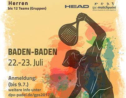 German Padel Series 2017 Poster Collection