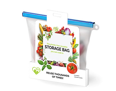 Packaging and logo for storage bag