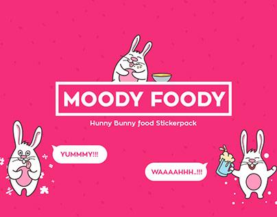 Moody Foody Sticker Design