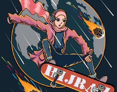 skateboard hijab
