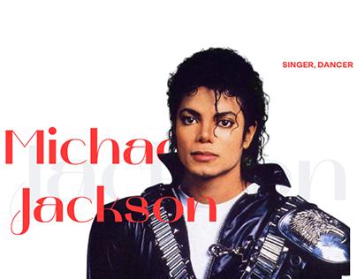 Landing page Michael Jackson biography
