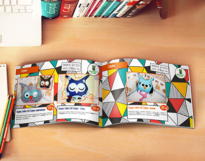 Catalog for company of creating handmade toys