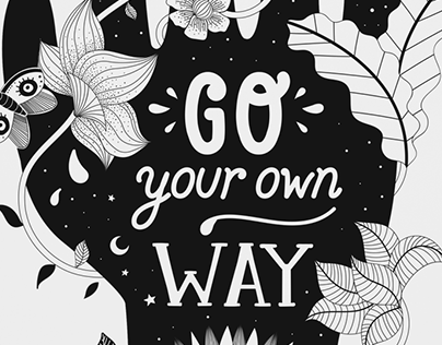 """Poster """"Go Your Own Way"""""""