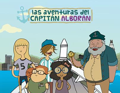Capitan Alboran, graphic design for a educational game.