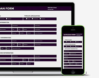 Responsive Autoloan Form | HTML5, CSS3, ParsleyJS