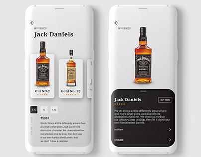 whiskey product ui design