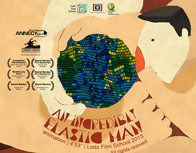 An incredibly elastic man (2013) short animation movie