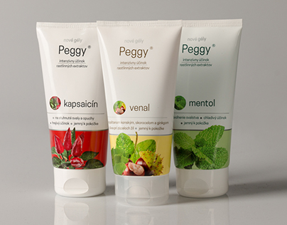 Peggy gels set packaging