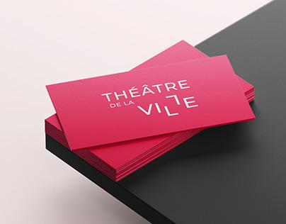 Théâtre de la Ville — Identité visuelle