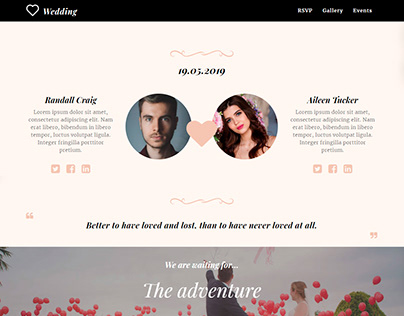 8b Simple Website Builder | Wedding Template!