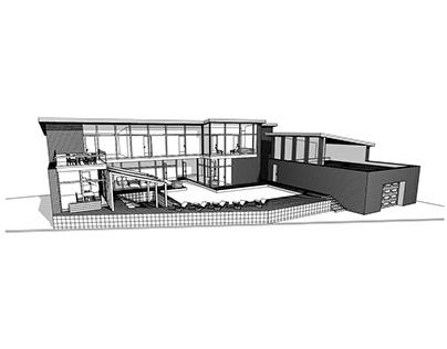 Проект частного дома с спа комплексом