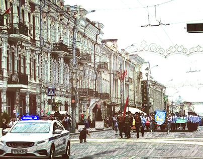 my street photos of the Independence Day in Gomel.