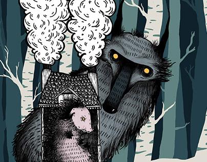 a kismalac és a farkasok