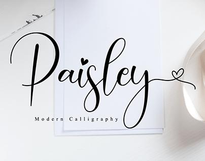 Paisley // Lovely Script Font