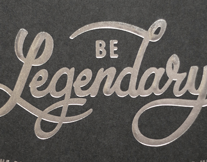 Hand Lettered Book Jacket - Be Legendary