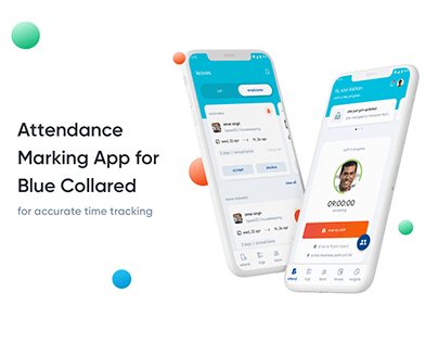 Attendance marking app for blue collared