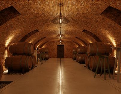 CGI Wine cellar