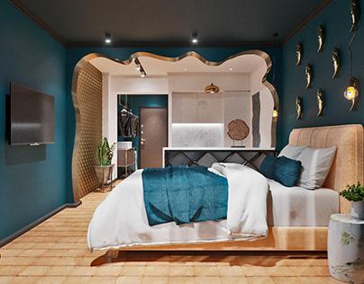 Apart hotel design in Batumi 25m2
