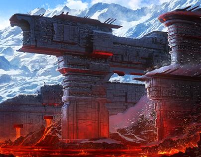 Ice & Lava city of Dwerg. SolarWind