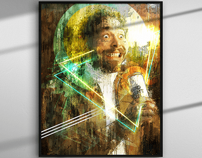 Post Malone Abstract Digital Painting/Poster