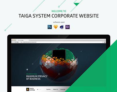 Taiga System Corporate website