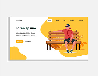 Vector flat illustration. Landing page template,