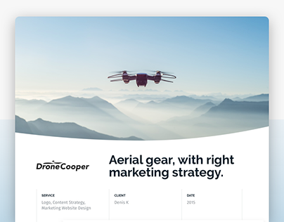 Drone Marketing Website Design, Content Strategy