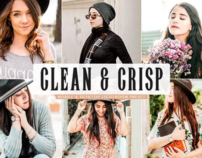 Free Clean & Crisp Mobile & Desktop Lightroom Preset