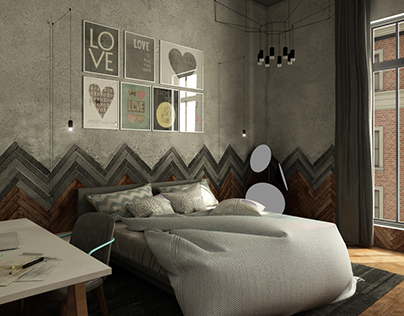 Moscow Loft . Bachelor bedroom