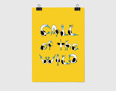 Dance of Typography // Lettering Poster