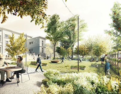 Project of the green surroundings of Palace Konopacki