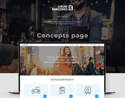 Liquid Barcodes webdesign