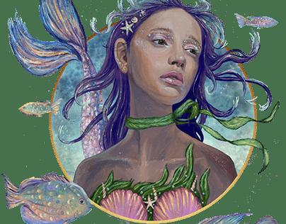 Rosalie the Mermaid by Teresa McDougal Art