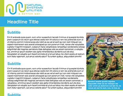 Natural Systems Utilities, Two Sided Template Design