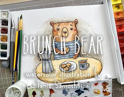 Brunch Bear illustration