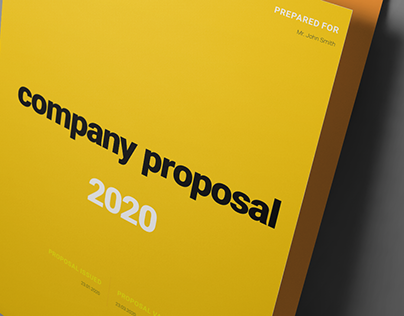 Yellow Proposal Layout