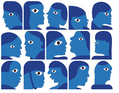 182 Blue Faces