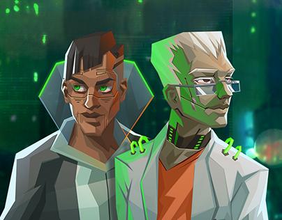 InfiniteCorp - Cyberpunk GameArt