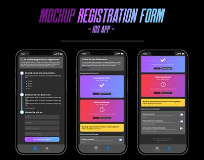 Registration form - iOS App