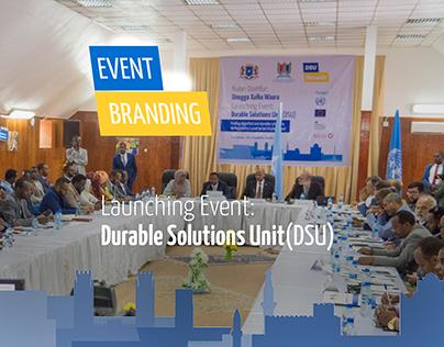 Event Branding for Durable Solutions Unit (DSU) Somalia