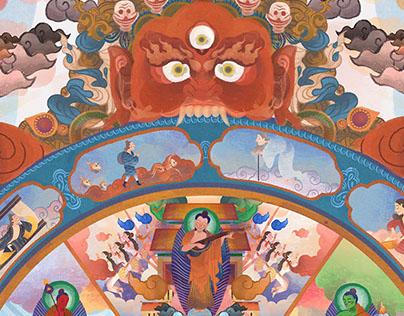 BUDDHISM ILLUSTRATION