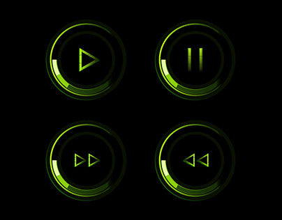 Play / Pause Buttons UI