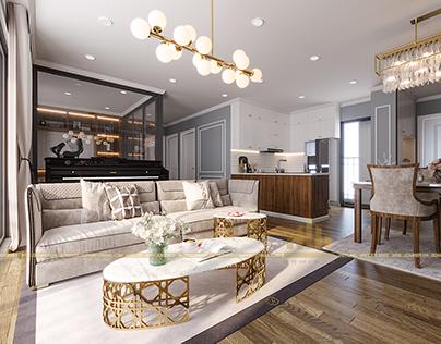 Thiết kế nội thất chung cư D'capitale 10C1 - Anh Luyện