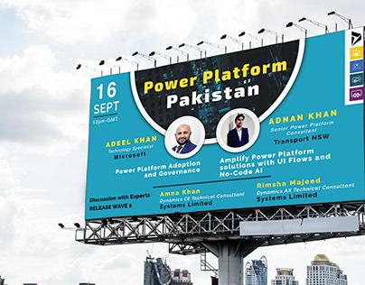 Poster designed for PowerPoint Platform Pakistan