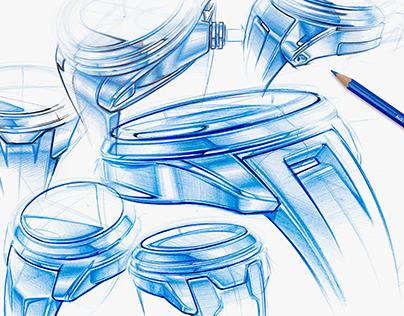 Blue Sketchbook - Watches