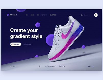 Shoes Webpage banner