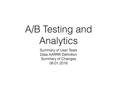 A/B Testing and Analytics