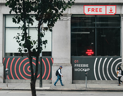 Free Store Front Wall Mockup