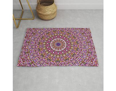 Colorful Spiritual Garden Mandala Rug