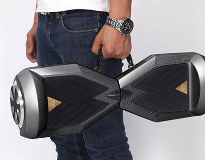 Self-balancing electric scooter branding and retouching